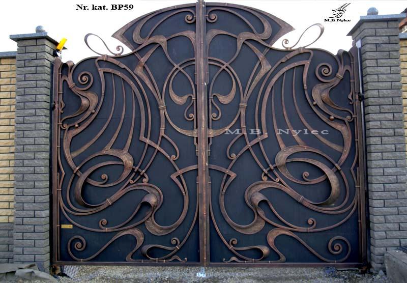 brama kuta pełna secesja - bp59