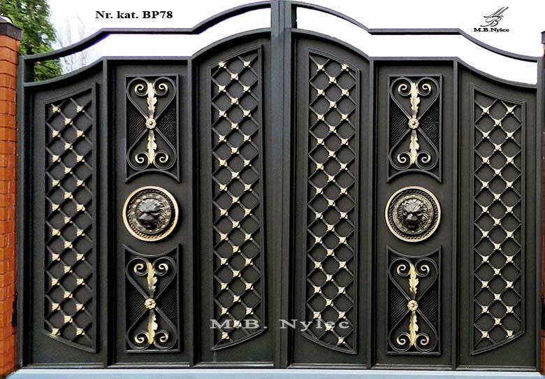 brama pełna w nowoczesnym charakterze bp78